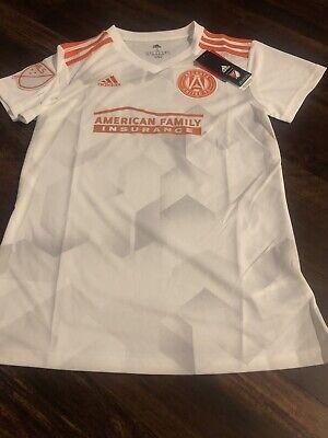 New Adidas Womens Atlanta United FC Soccer Jersey Size Small White image