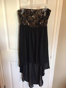 Hi-low glitter top dress, Sz large