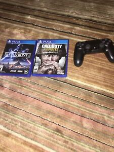 cod WWII , starwars battlefront 2, and ps4 controller