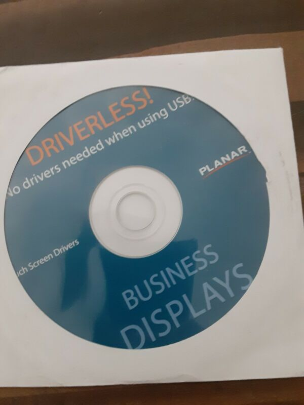 PLANAR Touch Screen Driver Disc for Business Displays