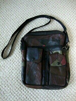 *NEW* Vintage Style Leather Shoulder Messenger Bag Festivals Gigs Travel Size