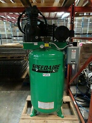 Speedaire Stationairy Air Compressor 35wc51 3ph 7.5hp 80 Gallon 175 Psi Heat