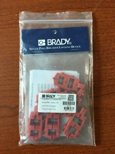 Brady Single Pole Breaker Snap -on Locking Device (pack of 6) New
