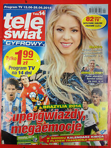 SHAKIRA GEORGE CLOONEY WORLD CUP 2014 - TELE ŚWIAT Polish magazine magazin mag - <span itemprop=availableAtOrFrom>Gdynia, Polska</span> - SHAKIRA GEORGE CLOONEY WORLD CUP 2014 - TELE ŚWIAT Polish magazine magazin mag - Gdynia, Polska