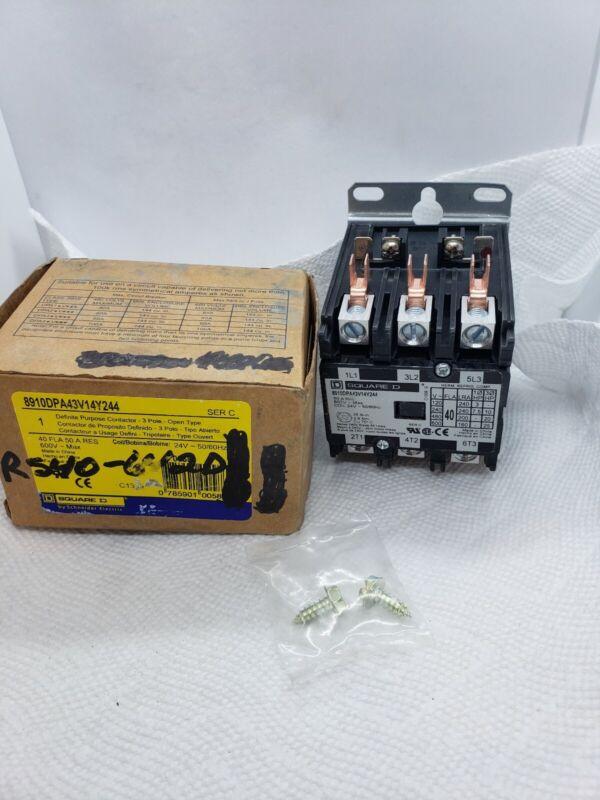 Schneider Electric 8910DPA43V14Y244 Definite Purpose Contractor 40a - 600v 24