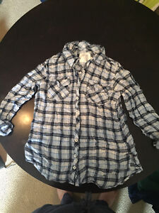 Girl's Justice Plaid Shirt Size 14