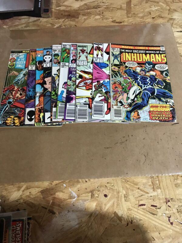 Marvel comics Lot (C) 70's&80's Mixed 10 Ct
