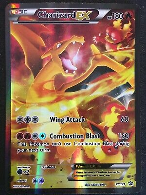 Charizard EX XY121 Black Star Promo - Full Art Pokemon Card - LP/NM