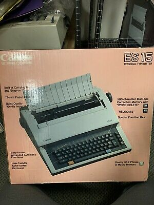 Canon Es15 Electronic Typewriter Brand New
