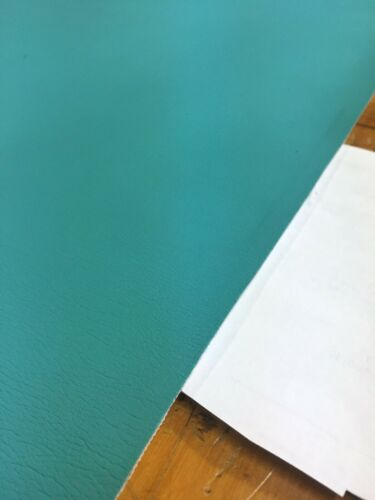 Ultrafabrics Ultraleather Aqua Blue Faux Leather Upholstery Fabric Remnant RH