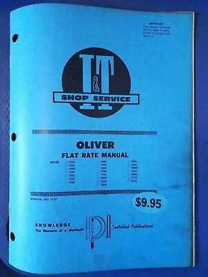 Oliver - It Shop Service Flat Rate Manual - Series 1255 To 2255 O-27