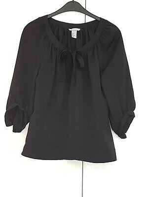 HM H&M Bluse mit Schleife Gr.38 schwarz  neu gebraucht kaufen  Karlsruhe