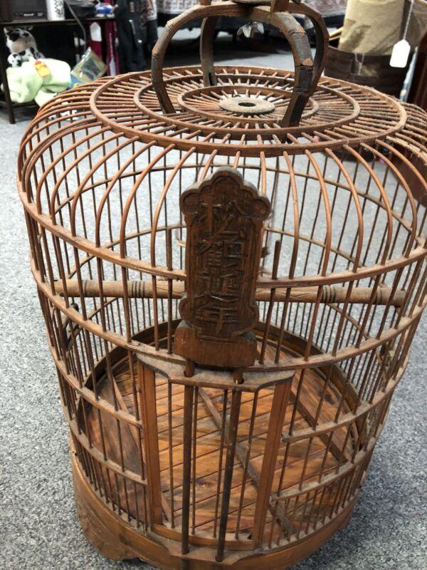 Oriental Birdcage Vintage Bamboo