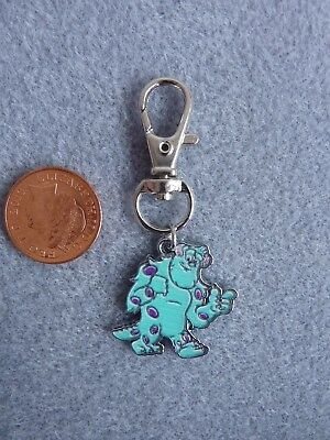 Disney Monsters Inc. University Sulley Mike Keyring Bag Charm Birthday Gift # 03