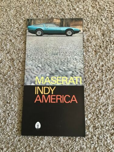 1970s  Maserati Indy America original color sales literature.