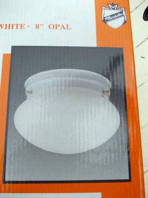 "OYSTER LIGHT 8"" OPAL (190ml) WHITE -Mirabella Brand"