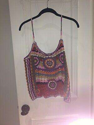 Zara Womens Multicolor Knit Top Size Medium