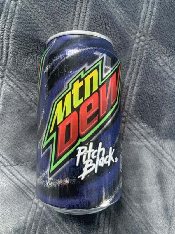 Mountain Dew PITCH BLACK 12oz FULL CAN