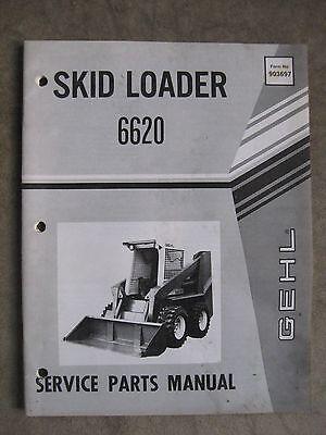 Gehl 6620 Skid Steer Loader Service Parts Manual