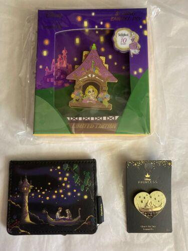 Loungefly Disney Tangled Rapunzel Lantern Card Holder LE Jumbo Pin Glow Heart