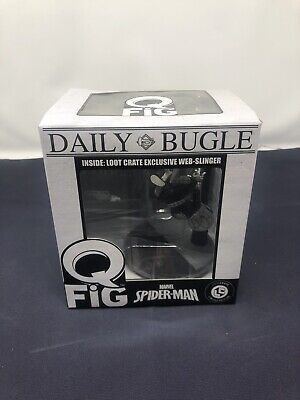 Marvel Q-Fig Daily Bugle Spiderman Web SlingerLoot Crate Exclusive Damagedbox