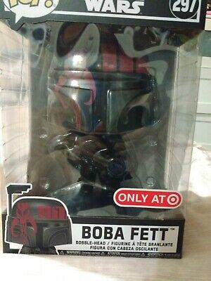 Funko Pop! Star Wars 10 Inch Boba Fett #297 Black Red Target Exclusive Futura