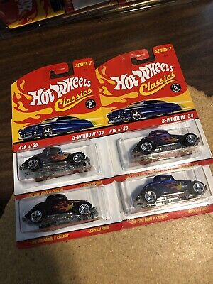 Hot Wheels Classics Series 2 3 Window 34 Lot Of 4 Different Colors