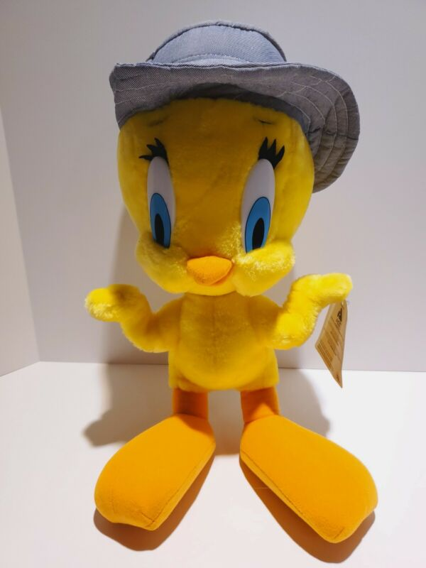 """Tweety Bird Stuffed Plush Doll Collectible With Hat By Ace Looney Tunes 19"""""""