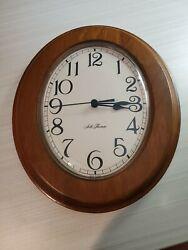 Vintage Seth Thomas Oval Wall Clock Quartz Movement USA