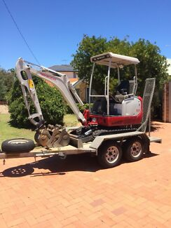 2014 Takeuchi TB216 +Trailer +3 Buckets $21500