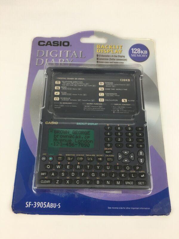 Casio SF-3905ABU-S Digital Diary Organizer Calculator Calendar Alarm VTG 128gb