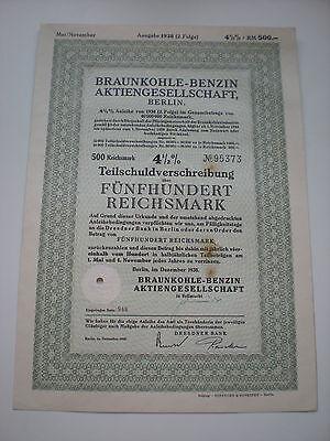 Deutschland - 2   x  Braunkohle-Benzin AG   1/233-1