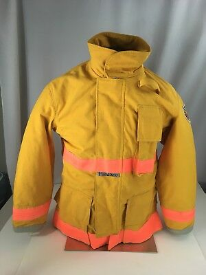 Firefighters Coat Fire-dex Yellow L Nomex Iiia Quilted Nomex Liner Lrg Vgc