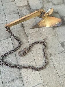 9kg (20LB) plough anchor with chain Wallsend Newcastle Area Preview