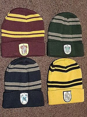 HARRY POTTER BEANIE HAT GRYFFINDOR HUFFLEPUFF RAVENCLAW SLYTHERIN - Slytherin Hat