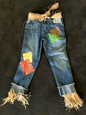 Scarecrow Costume Homemade (CUSTOM MADE KIDS 12 14 TEEN SCARECROW PANTS WIZARD OF OZ HOME MADE)