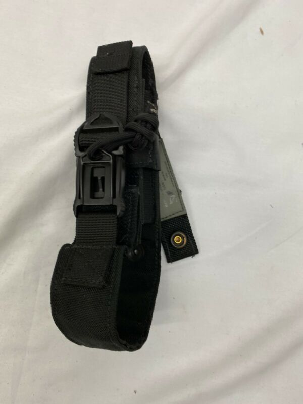 "Eagle Industries Black 7.75"" Baton Holder MOLLE QD Buckle Police ASP"