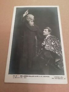 MR LEWIS WALLER & MR A E GEORGE ( EDWARDIAN ACTORS ) UNPOSTED POSTCARD (BEAGLES)