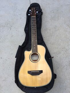 Left Handed Electro Acoustic Travel Guitar