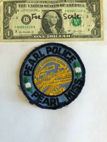 Pearl Mississippi Police Patch Pre-sewn Fair condition