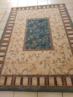 Turkish rug cleaned &  sanitised