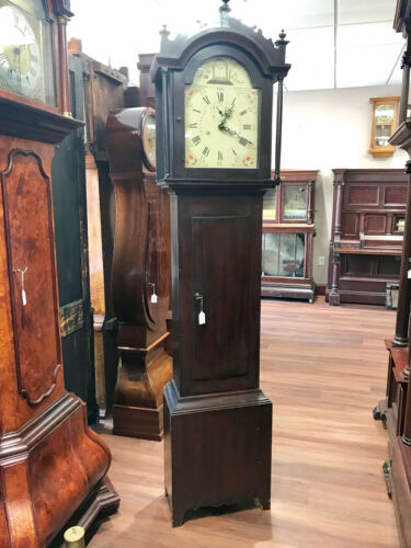 c015c Antique Working Early American Wood Works S.Hadley Tall Grandfather Clock