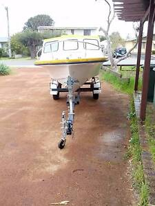 Half Cabin Project Boat, Licensed Trailer and good motor. Falcon Mandurah Area Preview