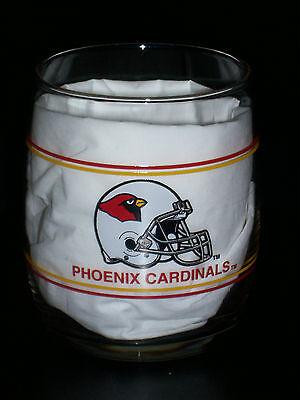 - Arizona Phoenix Cardinals NFL Old Fashion Rocks Bar 90's Gas Station Glass-NEW