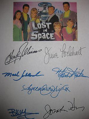 Lost in Space Cast Signed 1966 TV Script Guy Williams June Lockhart Bill Mumy RP