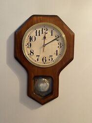 vintage battery operated wall clock Quartz Regulator