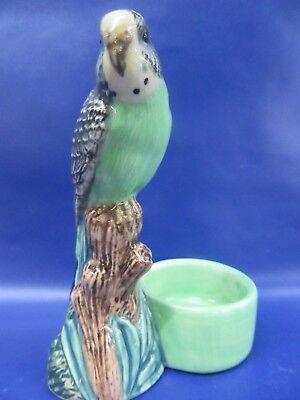 Budgerigar Tea Light Holder - Green Budgie Tea Light - Gift Boxed - New