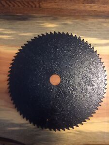 "Antique 12"" Sawmill Blade. Black Powdercoat. Decoration."