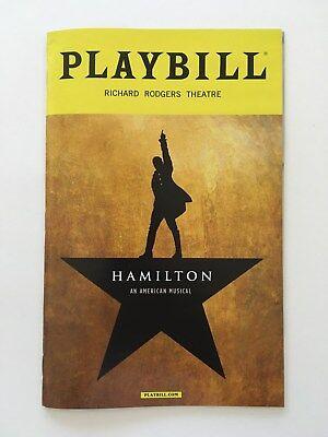 Hamilton Playbill Broadway - Lin Manuel Miranda - February 2017 Cast