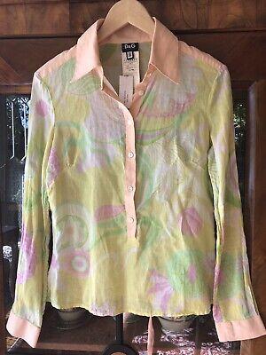 Dolce & Gabbana Women's Vintage Cotton Blouse From Henri Bendel NY Size 40/US (Dolce Gabbana New York)
